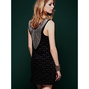 New Free People Danced to pieces Beaded Dress 0